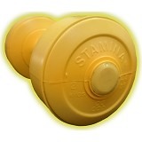 STAMINA 2x Plastic Dumbbell 2kg [ST-800-2CYL] - Yellow - Barbell / Dumbbell